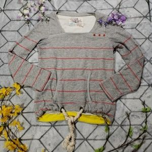 Anthro XS Striped Sweatshirt Shirt Top Kimchi Blue